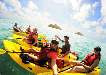 Product Oahu Guided Kayak Adventure